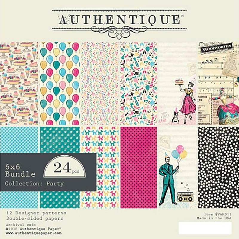 "Authentique Double-Sided Cardstock Pad 6""X6"" Party"