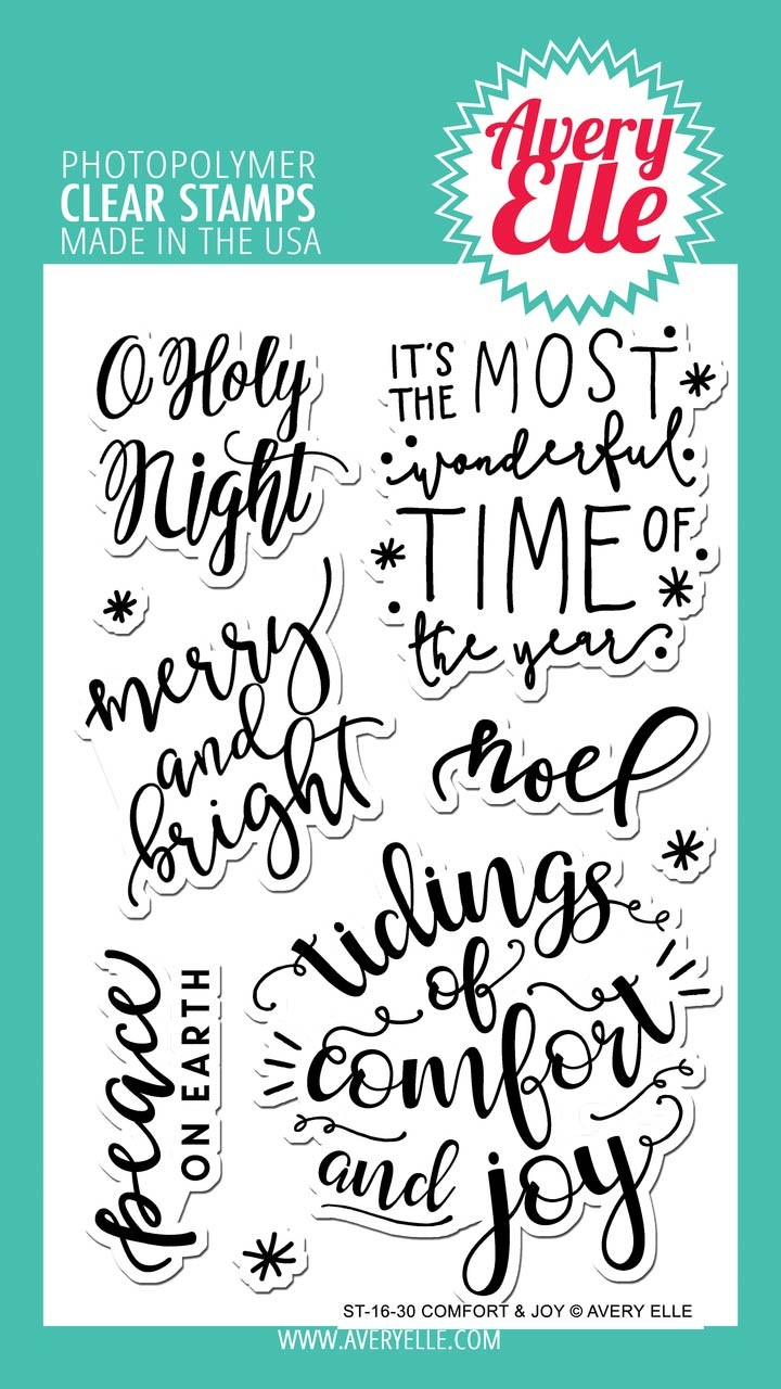 Avery Elle Comfort & Joy Clear Stamps