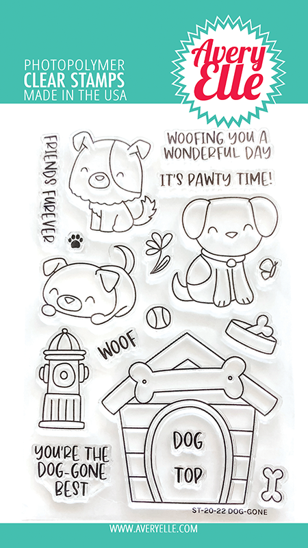 SALE - Avery Elle Dog-Gone Clear Stamps