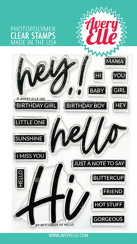 Avery Elle Loads Of Hello Clear Stamps