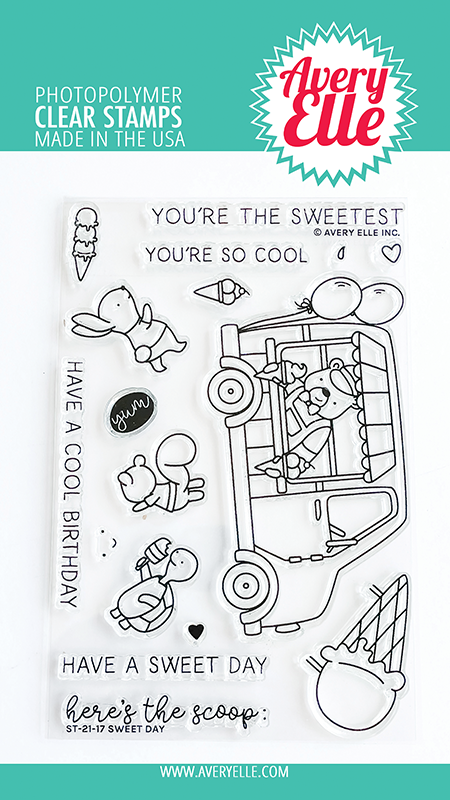 Avery Elle Sweet Day Clear Stamps D2116