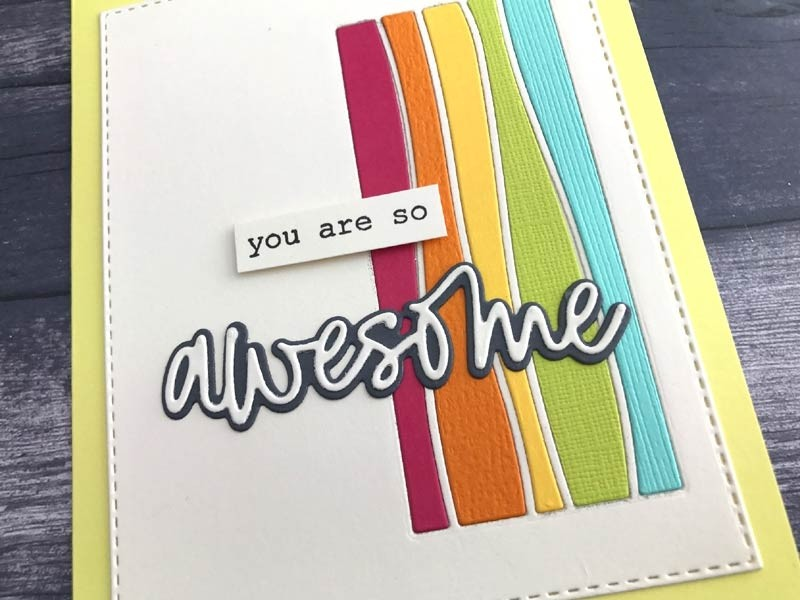 Memory Box Awesome Jotted Script 94015