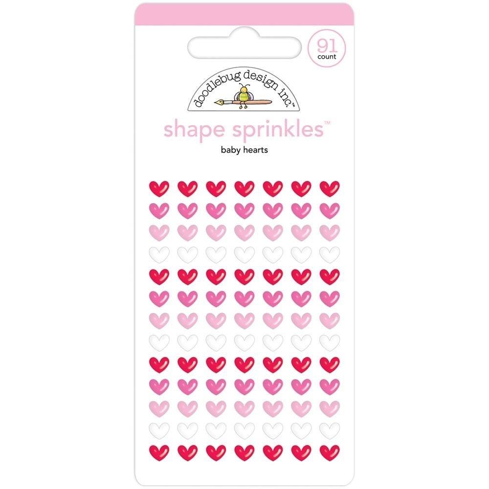 Doodlebug Baby Heart Enamel Stickers