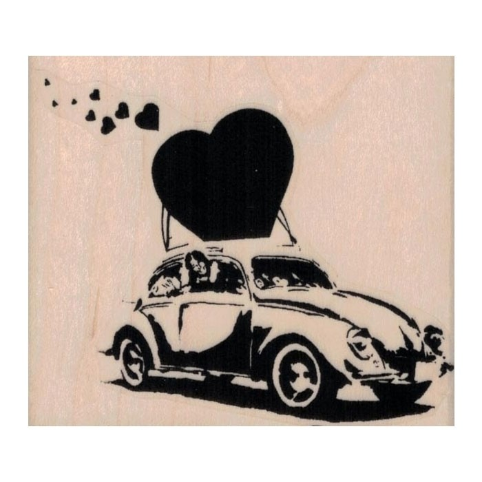 Banksy Love Bug Rubber Stamp