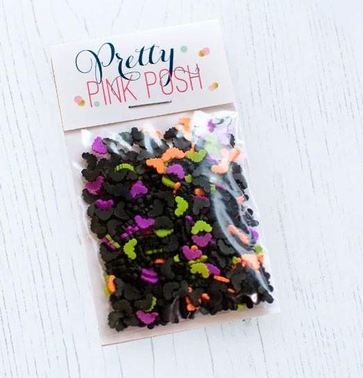 Pretty Pink Posh Halloween Bats Clay embellishments