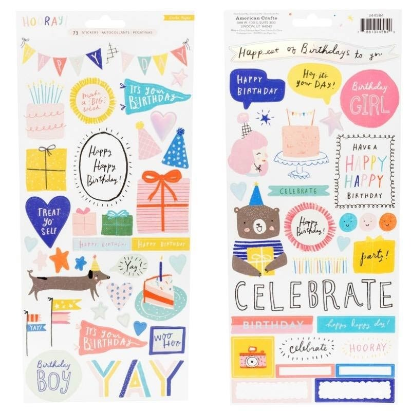 Hooray Birthday Stickers from Crate Paper