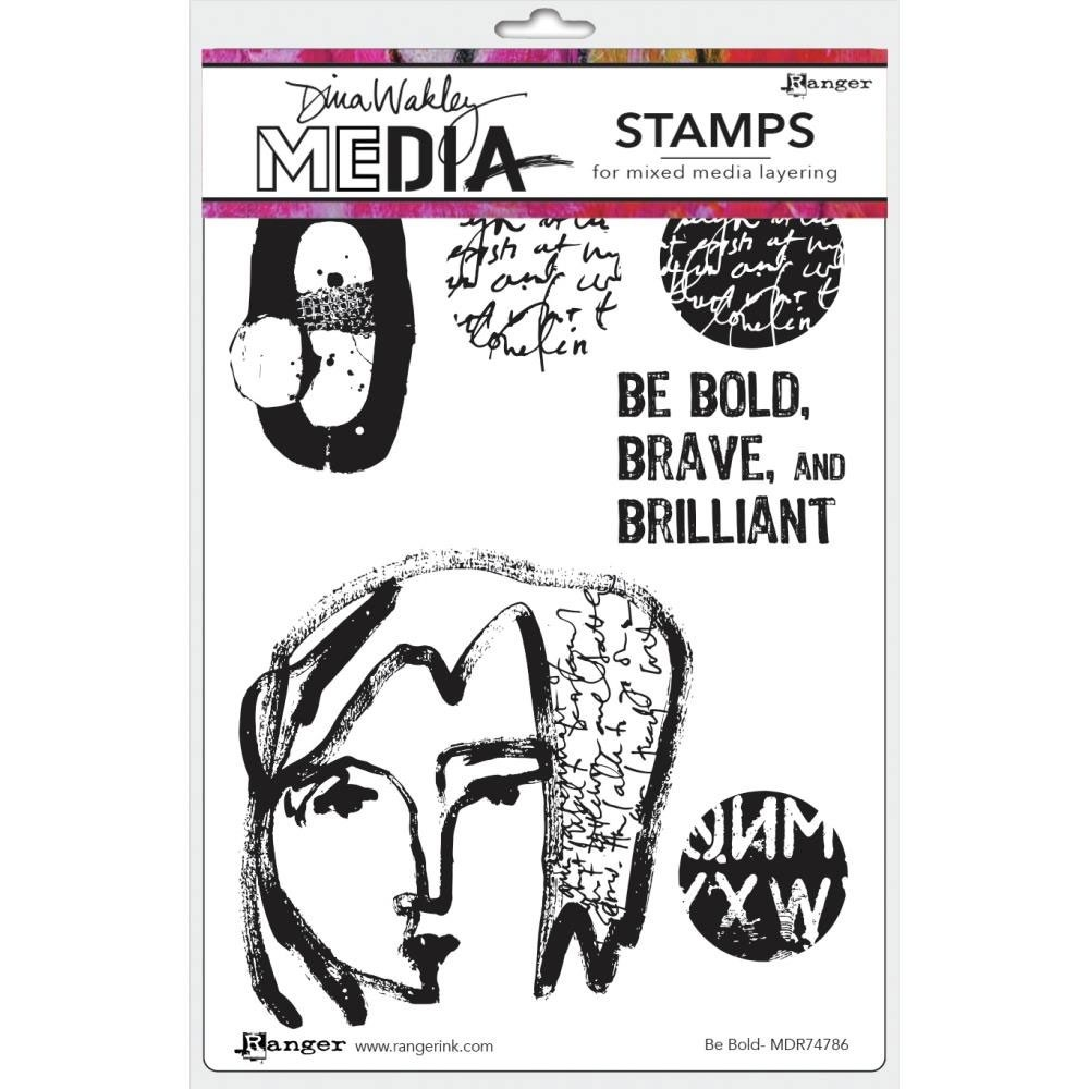NEW Dina Wakley Be Bold Stamp Set