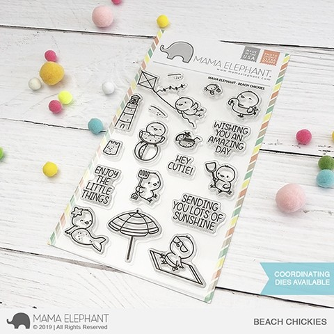 Mama Elephant Beach Chickies Clear Stamps
