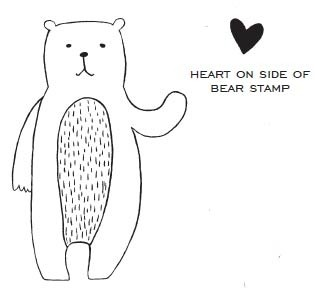 Savvy Stamps Bear w/heart 1607h