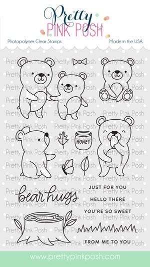 Pretty Pink Posh Bear Friends Stamp Set