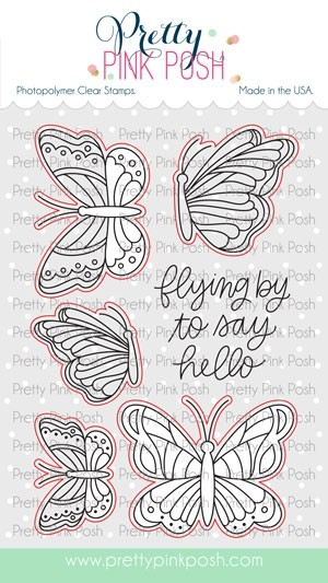 Pretty Pink Posh Beautiful Butterflies Coordinating Dies