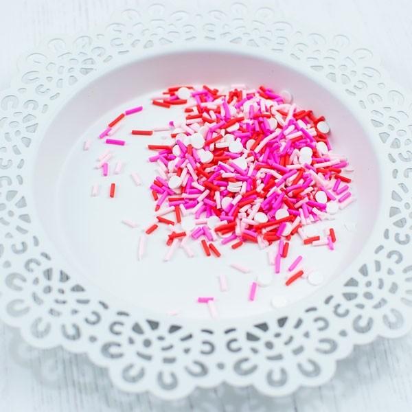 Pretty Pink Posh Be My Valentine Clay Confetti