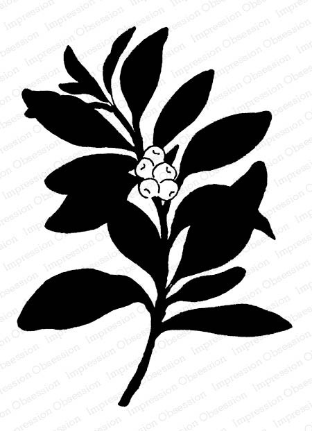 Berry Branch Rubber Stamp g207859io