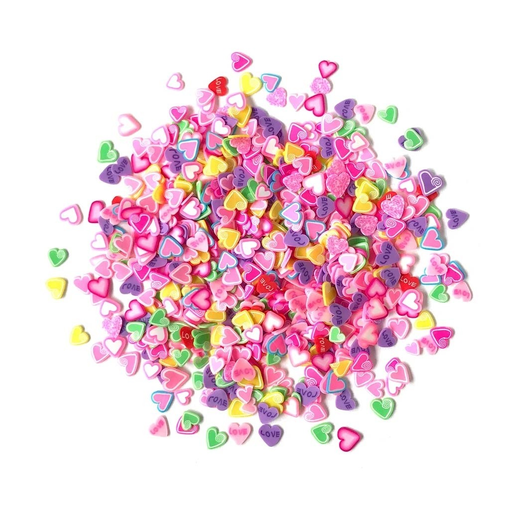 Sprinkletz Candy Hearts Embellishments
