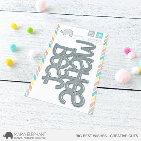 Mama Elephant Big Best Wishes - Creative Cuts