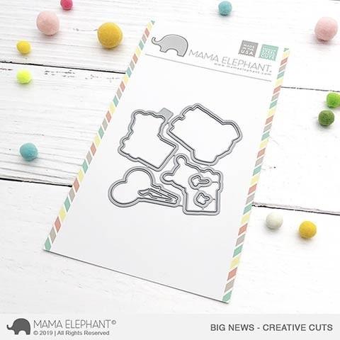Mama Elephant Big News Creative Cuts