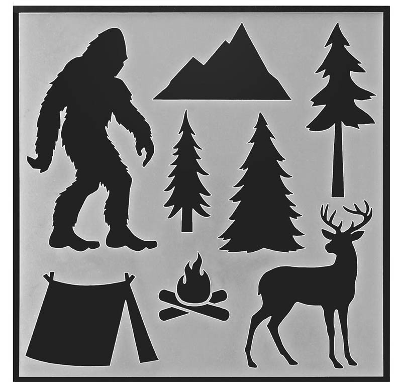 Bigfoot Stencil/Sasquatch Stencil