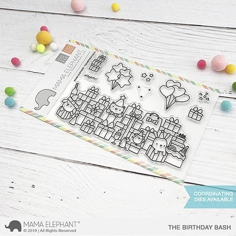 Mama Elephant The Birthday Bash Clear Stamp Set