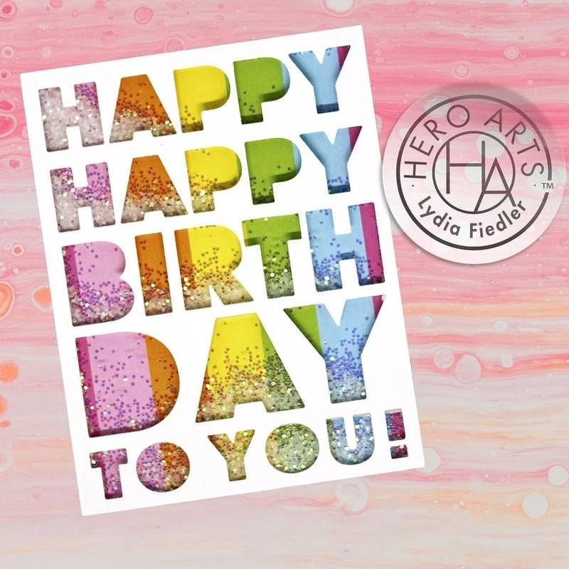 Hero Arts Birthday Message Cover Plate   DI842