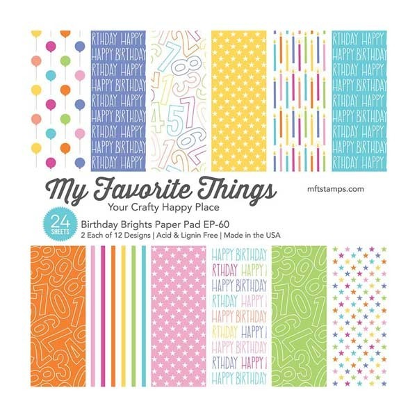 My Favorite Things Birthday Brights 6x6 Paper Pack