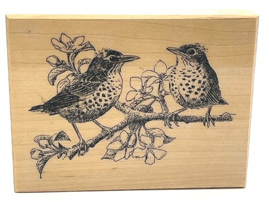 Bline Designs Robins Rubber Stamp