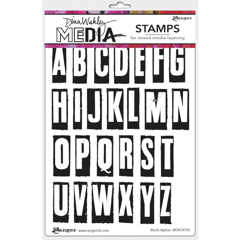 NEW Block Alpha Stamp Set
