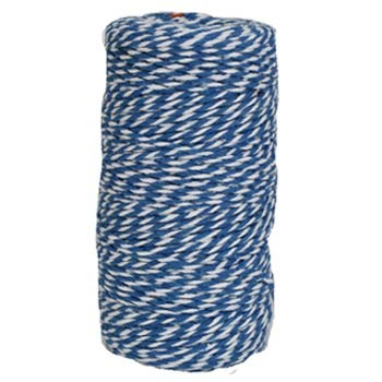 Blue and White Chunky Twine Bolt