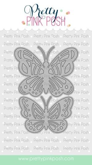 Pretty Pink Posh Bold Butterflies Die