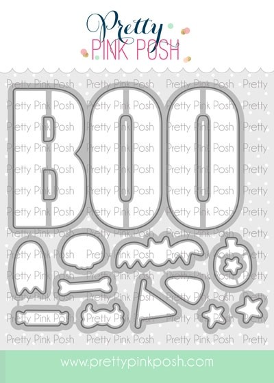 Pretty Pink Posh Boo Coordinating Die Set