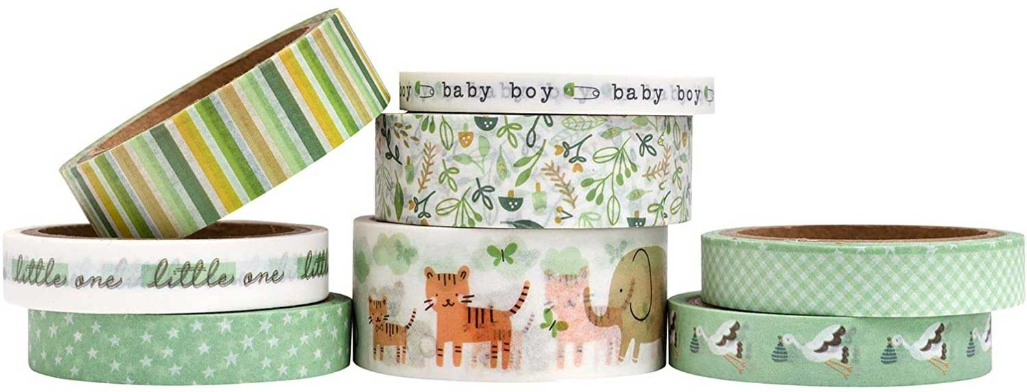 Pebbles Peek a Boo Boy Washi Tape