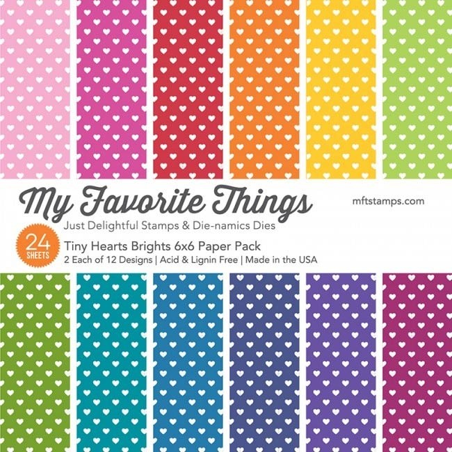 My Favorite Things Tiny Hearts Bright Paper Pack