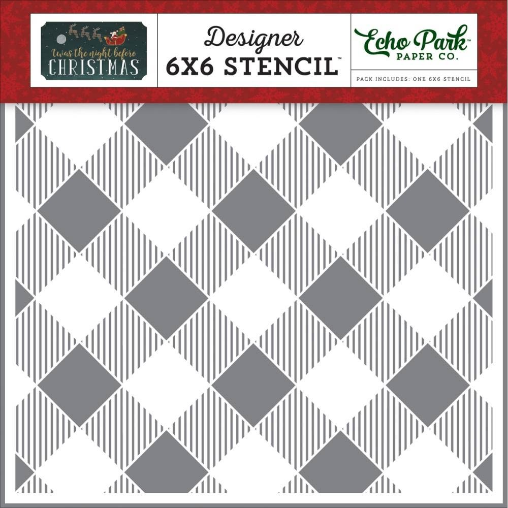 Echo Park Buffalo Plaid Stencil