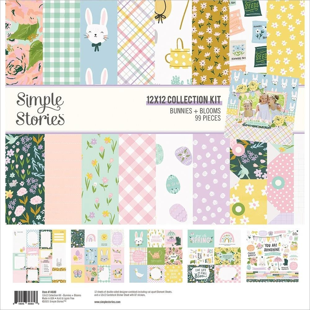 Simple Stories Bunnies and Blooms 12 x 12 collection kit