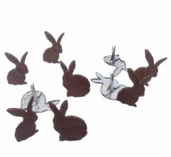Chocolate Bunny Brads