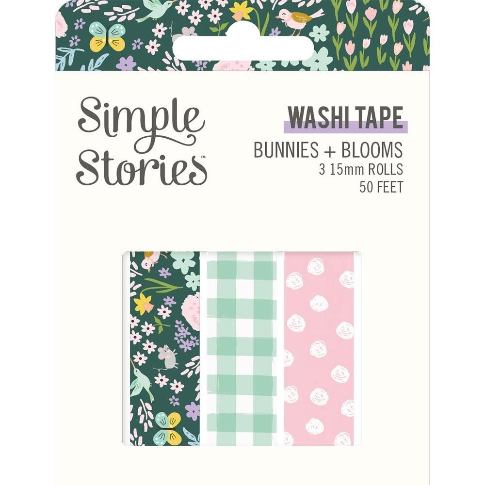 Simple Stories Bunnies & Blooms Washi Tape 3/Pkg