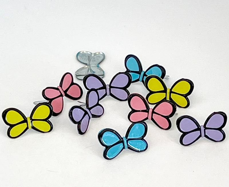 Bright Butterfly Brads