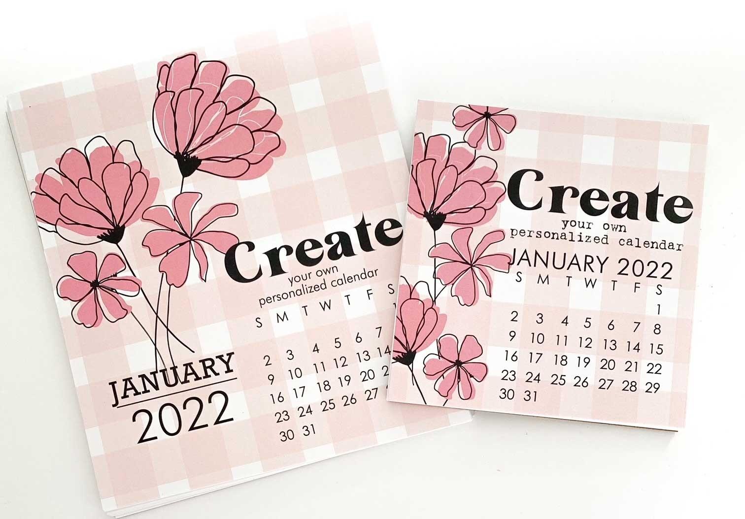 Impress Large 2022 DIY calendar Refill