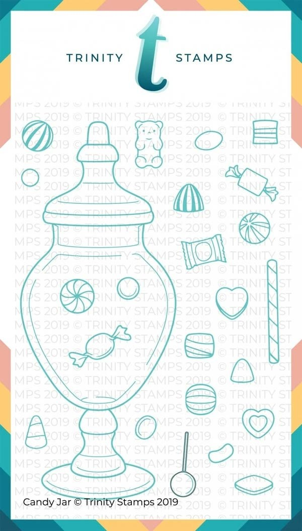 Trinity Stamps Candy Jar Stamp Set and Die Bundle