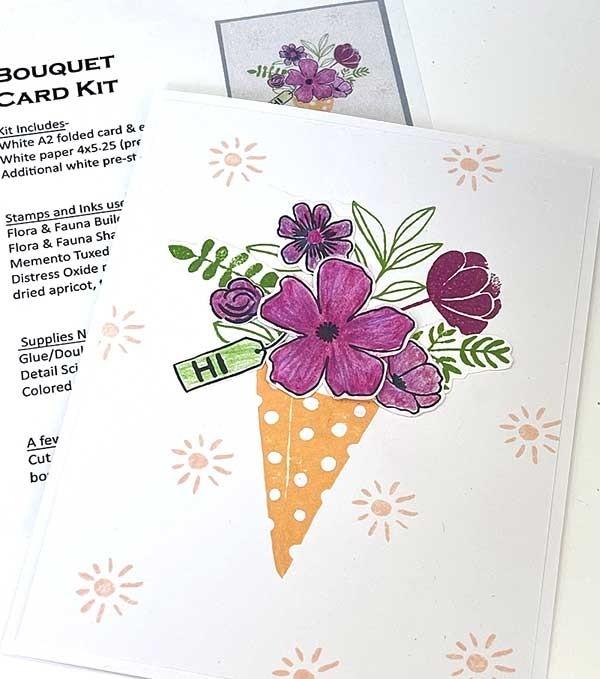 Single Card Kit - Bouquet