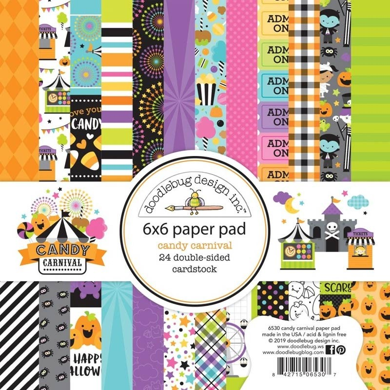 Doodlebug Candy Carnival 6x6 Paper Pack