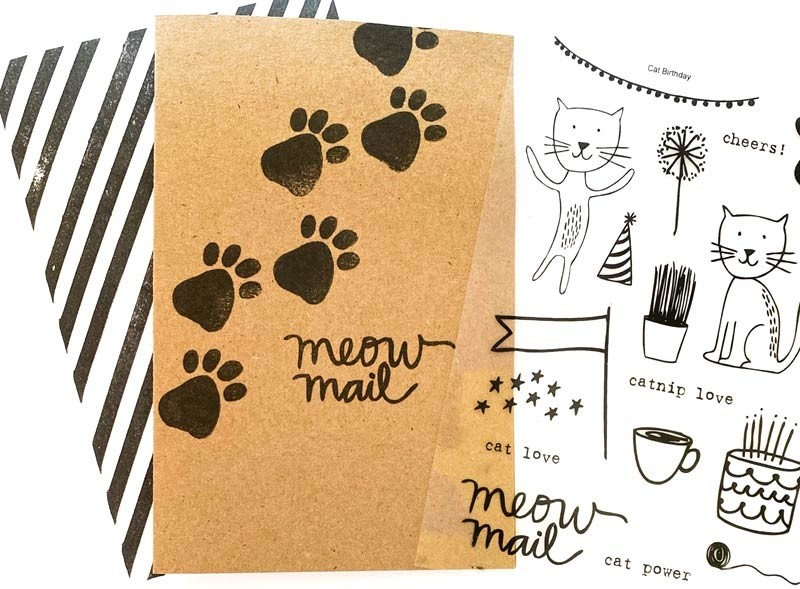Impress Cat Power Clear Stamp Set