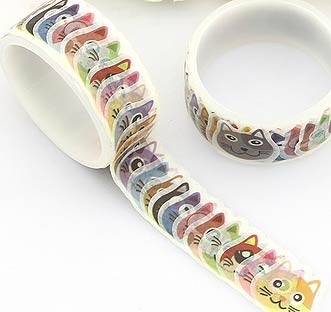 Cat Washi Tape Stickers