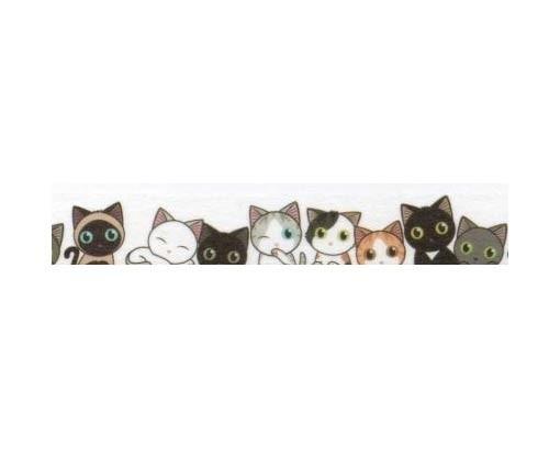 Row of Cats Washi Tape