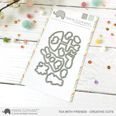 Mama Elephant Tea with Friends - Creative Cuts
