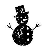5479c - chalk snowman