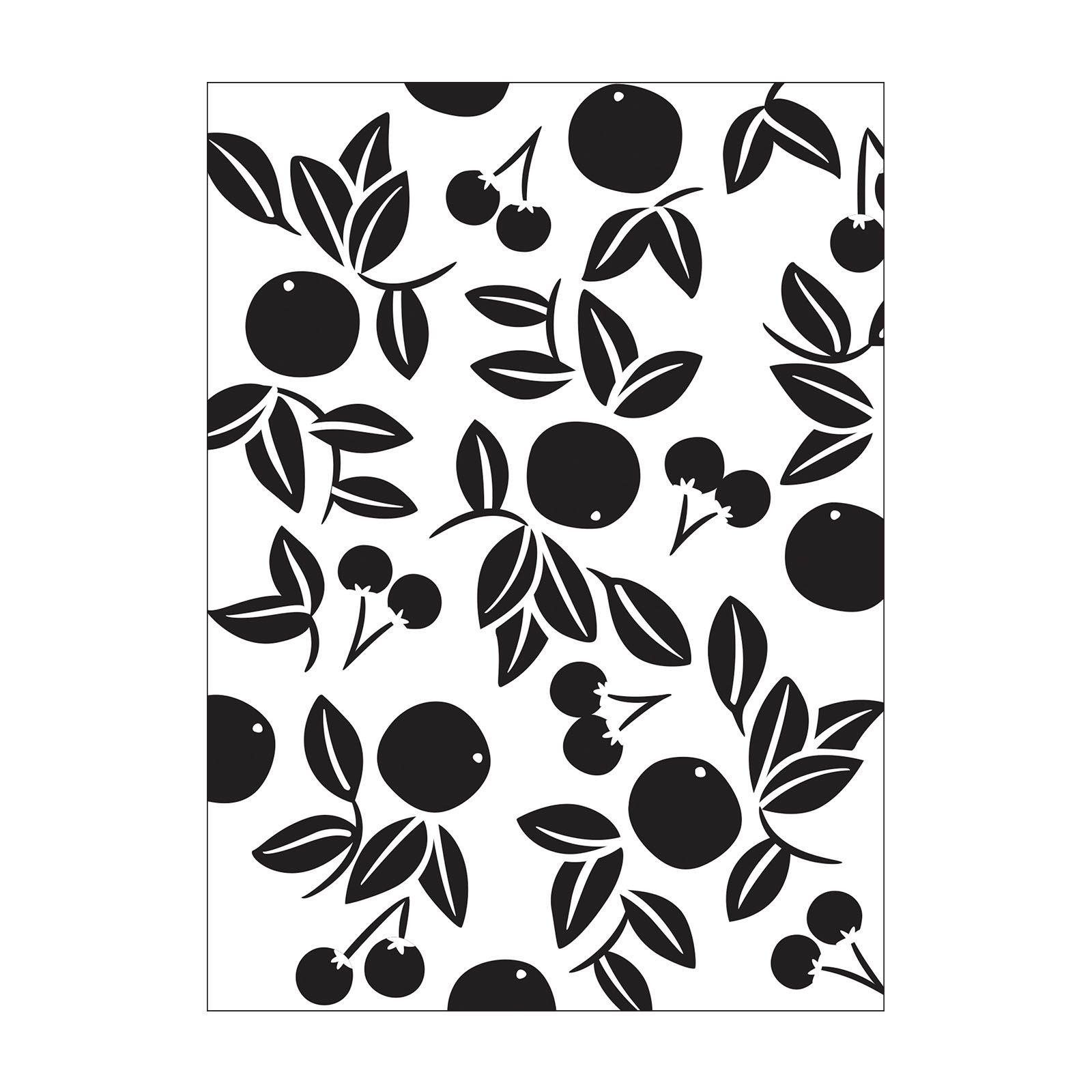 sale - Cherry Embossing Folder