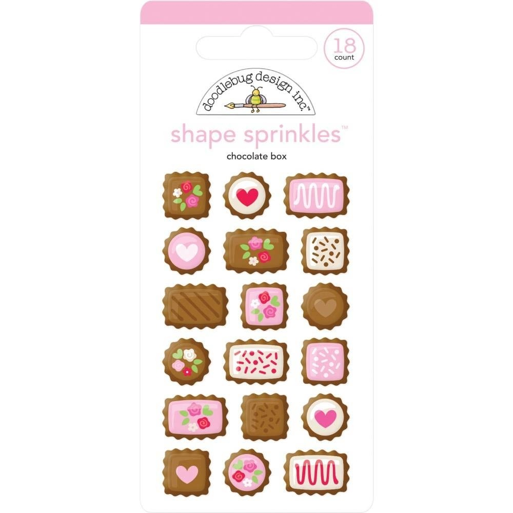 Doodlebug Chocolate Box Adhesive Glossy Enamel Shapes