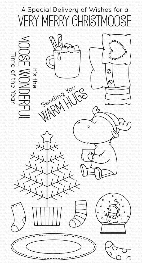 My Favorite Things Merry Christmoose Stamp and Die set