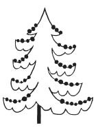 Christmas Tree Rubber Stamps 1598d