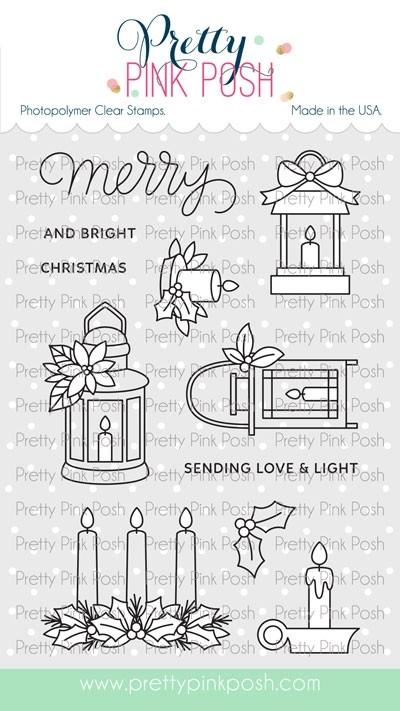 Pretty Pink Posh Christmas Candles stamp set